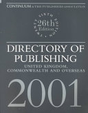 Directory Of Publishing 2001 book