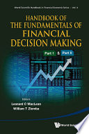 Handbook Of The Fundamentals Of Financial Decision Making In 2 Parts