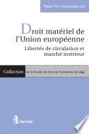 Droit Mat Riel De L Union Europ Enne