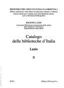 Catalogo delle biblioteche d'Italia - Lazio