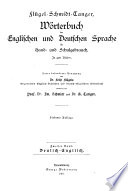 Dictionary of the English and German Languages for Home and School