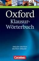 Oxford Klausur W Rterbuch Englisch Deutsch Deutsch Englisch