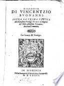 Discorso sopra la prima cantica del divini  imo Theologo Dante d Alighieri del bello nobili  imo Fiorentino