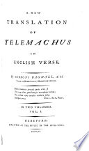 A new translation of Telemachus in English verse  by G  Bagnall