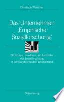 Das Unternehmen 'Empirische Sozialforschung'