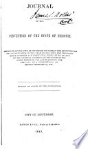Journal of the Convention of the State of Missouri