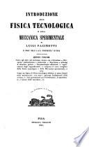 Introduzione alla fisica tecnologica e alla meccanica sperimentale