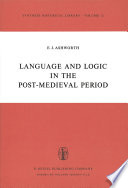 Language and Logic in the Post Medieval Period