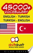 45000  English   Turkish Turkish   English Vocabulary