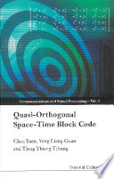 Quasi orthogonal Space time Block Code