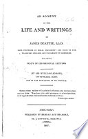 An Account of the Life and Writings of James Beattie