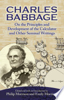 On the Principles and Development of the Calculator and Other Seminal Writings
