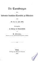 Die Turnübungen beim siebenten deutschen Turnfeste zu München vom 28. bis 31. Juli 1889