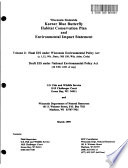 Wisconsin Statewide Karner Blue Butterfly Habitat Conservation Plan Hcp And Environmental Impact Statement