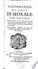 Essais de morale, contenus en divers traités sur plusieurs devoirs importans