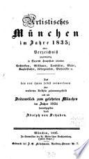 Artistisches München im Jahre 1835