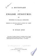A Dictionary of English Synonymes and Synonymous Or Parallel Expressions Book PDF