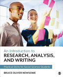 An Introduction to Research, Analysis, and Writing