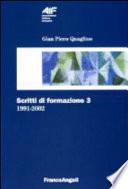 Scritti di formazione  1991 2002