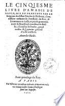 ¬Le ... livre d'Amadis de Gaule