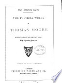 The poetical works of Thomas Moore  with notes  c