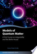 Models of Quantum Matter Book PDF