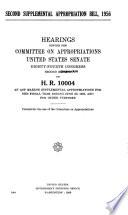 Second Supplemental Appropriation Bill 1956