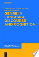 Genre in Language  Discourse and Cognition