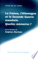 La France  l Allemagne et la seconde guerre mondiale