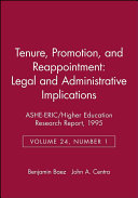 Tenure Promotion And Reappointment