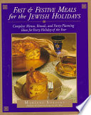 Fast   Festive Meals for the Jewish Holidays