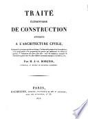 Trait     l  mentaire de Construction appliqu  e    l architecture civile