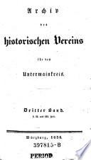 Archiv des Historischen Vereins für den Untermainkreis