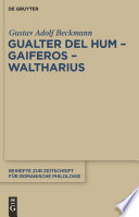 Gualter del Hum, Gaiferos, Waltharius