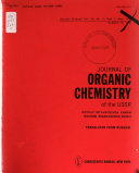 Journal of Organic Chemistry of the USSR.