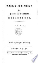 Addreß-Kalender der Haupt- und Kreisstadt Regensburg