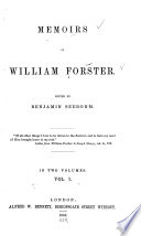 Memoirs of William Forster