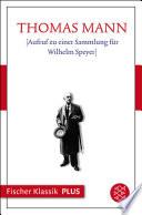 [Aufruf zu einer Sammlung für Wilhelm Speyer]