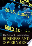The Oxford Handbook of Business and Government