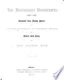 The Montgomery Manuscripts 1603 1706  book