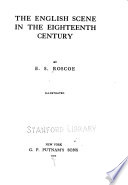 The English scene in the eighteenth century