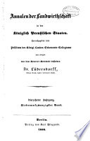Annalen der landwirtschaft in den Königlich preussischen staaten