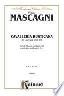Cavalleria Rusticana  An Opera in One Act