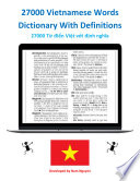 27000 Vietnamese Words Dictionary With Definitions