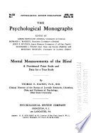 Psychological Monographs  General and Applied
