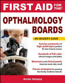 First Aid for the Ophthalmology Boards