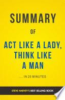 Act Like A Lady  Think Like A Man  by Steve Harvey   Summary   Analysis