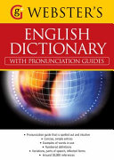Webster s American English Dictionary  with Pronunciation Guides