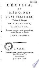 Oeuvres    de Miss S  H  Burney  Traduit de l anglais par Despr  s  Deschamps  Renfner  Rieu