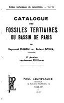 Catalogue des fossiles tertiaires du bassin de Paris